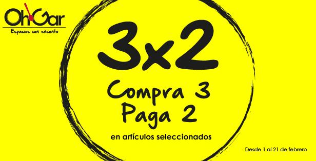 3×2 en accesorios de mesa de Oh!Gar