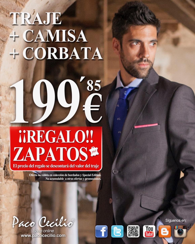 TRAJE + CAMISA + CORBATA EN PACO CECILIO