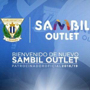 ¡EL CD LEGANÉS Y SAMBIL OUTLET SEGUIREMOS JUNTOS OTRA TEMPORADA MÁS!