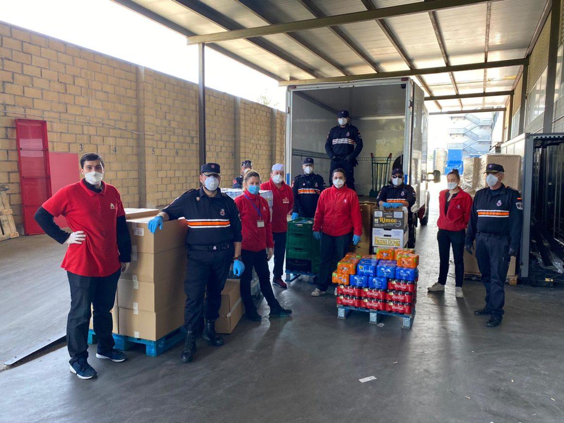 Alcampo Supermercado y Sambil Outlet colaborando con el cuerpo de Policía y Protección Civil de Leganés