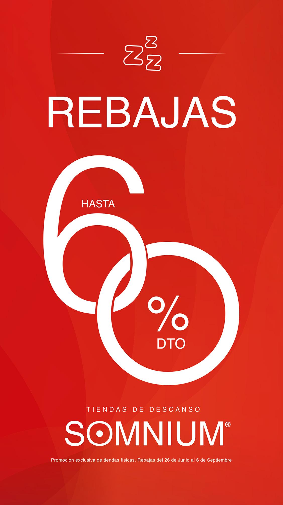 REBAJAS DE HASTA EL 60% EN SOMNIUM