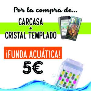 En La Casa de las Carcasas puedes conseguir esta funda acuática para móviles a 5€ por la compra de cristal templado + carcasa.