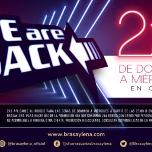 LLEGA A BRASA Y LEÑA LA PROMOCIÓN: WE ARE BACK!