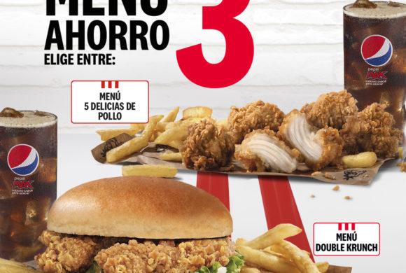 DISFRUTA DEL MENÚ AHORRO EN KFC – POR 3,99€